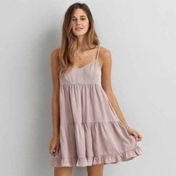 American Eagle Outfitters Dresses   Skirts - AE Light Pink Babydoll Dress 67a4bbba2